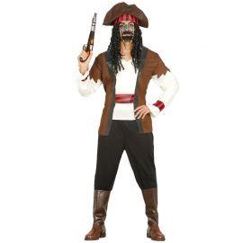 Costume da Pirata Sette Mari per Uomo con Fascia