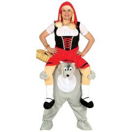Costume da Lupo con Cappuccetto in Spalla per Uomo