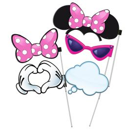 6 Accessori Minnie Mouse per Photo Booth