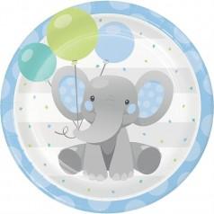 Compleanno Elefantino Blu