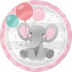 Compleanno Elefantino Rosa