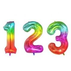 Palloncini Numeri Arcobaleno