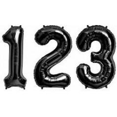 Palloncini Numeri Neri