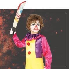 Costumi Pagliaccio Assassino Bambina