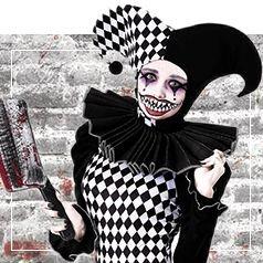 Costumi Pagliaccio Assassino Donna