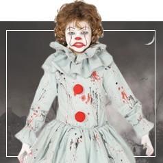 Costumi Clown Horror Bambina