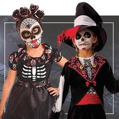 Costumi Teschio Messicano per Bambini