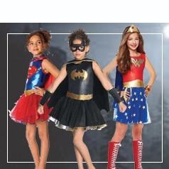Vestito Supereroi Bambina
