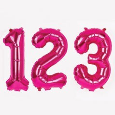 Palloncini Numeri Rosa