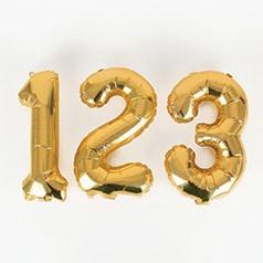 Palloncini Numeri Dorati