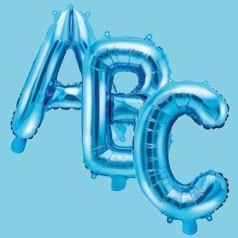 Palloncini Lettere Blu