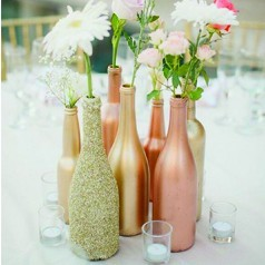 Bottiglie Decorate Matrimonio