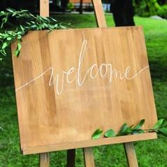 Cartello Benvenuti Matrimonio