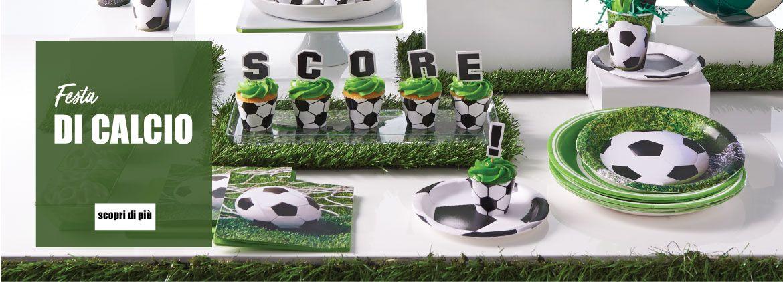 Allestisci la tua festa con un pallone da calcio